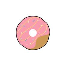 Donut. Flat Design. Vector