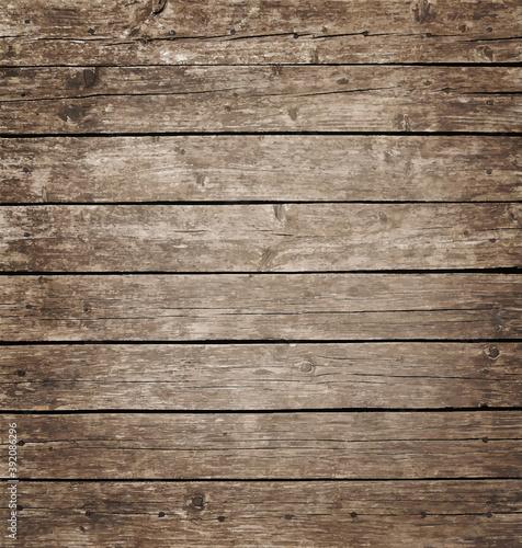 Fototapeta Brown vintage wooden planks background obraz