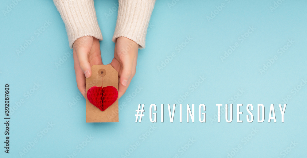 Fototapeta Giving Tuesday philanthropy day after Black Friday shopping