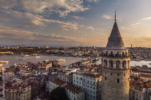 Tableau sur Toile Turkey aerial drone high point view