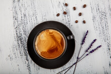 Double Espresso. Close Up Espr...