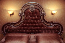 Luxury Velour Bedroom Bed With...