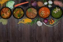 An Assortment Of Vegan Soup Bo...