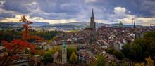 Panoramic View Over The City O...