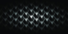 Abstract Hexagon Structure Dark Geometric Background. Eps 10 Vector.