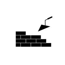 Architecture And Building Icon Flat. Illustration Isolated