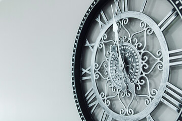 mechanical clock with arabic dial