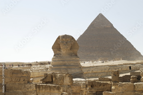 Fototapety, obrazy: sphinx and pyramid