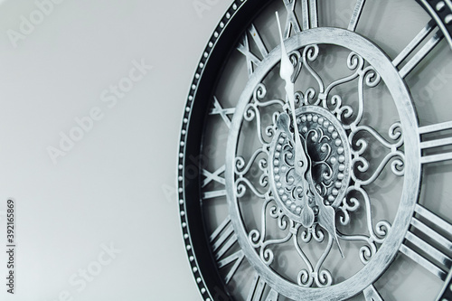 Obraz mechanical clock with arabic dial - fototapety do salonu
