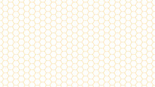 Hexagon Bee Hive Yellow Pattern Seamless Background Vector Illustration.