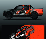 Truck decal, cargo van and car wrap vector, Graphic abstract grunge stripe designs for wrap branding vehicle