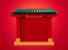 Chinese Door Entrance