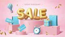 Online Shopping Sale Banner Design
