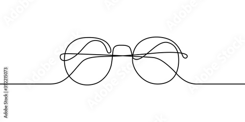 Fotografía Glasses in continuous line art drawing style