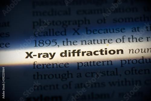 Fototapeta x-ray diffraction
