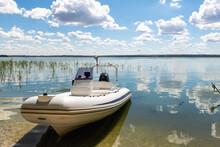 Big White Modern Fishing Motor...