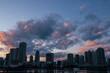 東京湾岸の夕焼け/湾岸タワーマンション/アパートメント/マジックアワー/