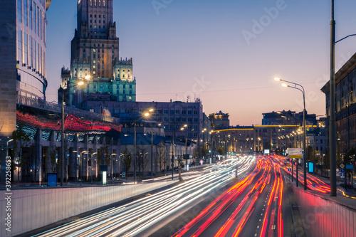 Foto Night lights on Novinsky Boulevard