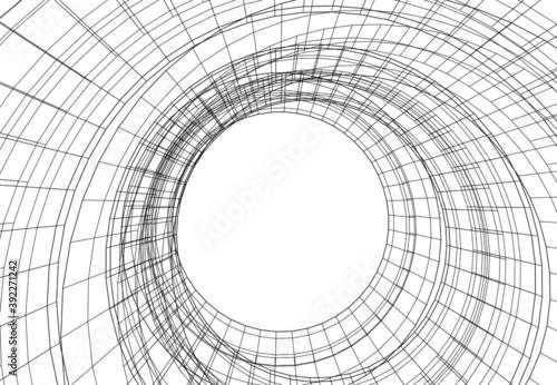 Slika na platnu abstract background with lines