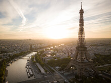 Eiffel Tower And River Seine A...