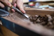 Detail Of Carpenter Working