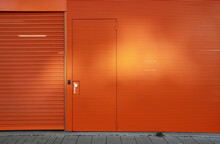 Orange Metal Wall