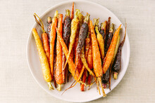 Roasted Multicoloured Carrots