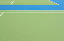 Blue And Green Tennis Field