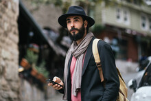 City Man With A Smartphone In A Hand