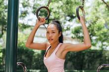 Sportswoman Doing Outdoor Trai...