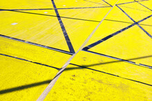 Yellow Road With Lines
