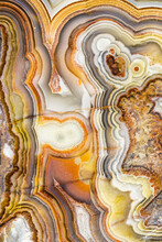 Macrophotographic Detail Of A Laguna Lace Agate From Mexico