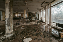 Interior Of Abandoned Building...
