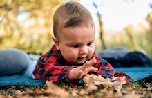Baby Tummy Time In The Park