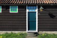 Door In Historic Wooden House