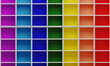 Multi-colored rainbow wooden locker or box. Shoe shelf or showcase. 3D Rendering.