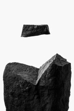 Minimalist Macro Levitating Rock