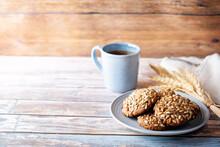 Healthy Rye Grain Cookies With...