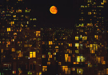 Yellow Moon Over The City