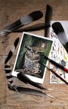 Night Owl Fairytale Painting