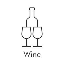 Logotipo Con Texto Wine Con Bo...