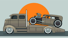 Truck With Hot Rod