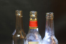 Bottle Necks And A Label