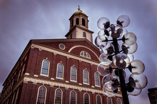 Faneuil Hall, The Cradle Of Liberty, In Boston