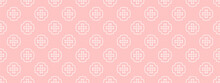 Simple Geometric Ornament, Seamless Wallpaper Texture, Pink Background For Your Design, Vector Image