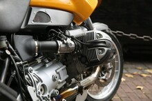 Motorcycle Engine Close Up