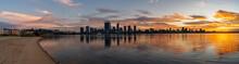 Panoramic Shot Of South Perth, A Coastal City In Australia