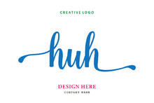 HUH Lettering Logo Is Simple, ...