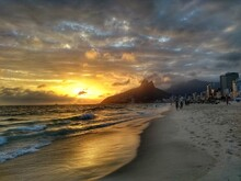 Sunset At Ipanema Beach, Rio D...