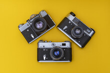 Old Obsolete Film Cameras On Y...